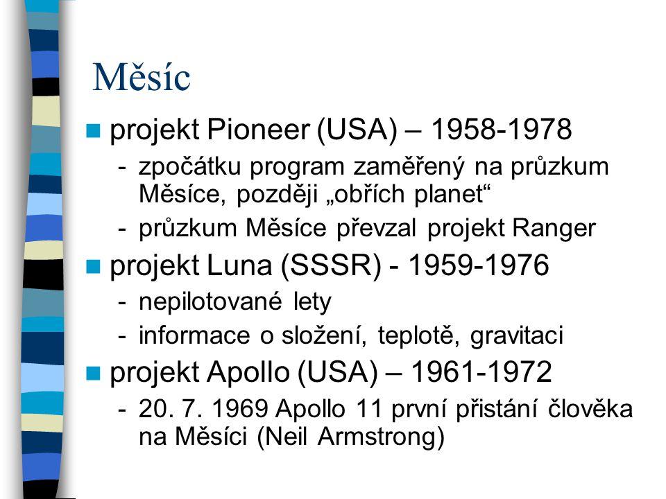 Měsíc projekt Pioneer (USA) – 1958-1978