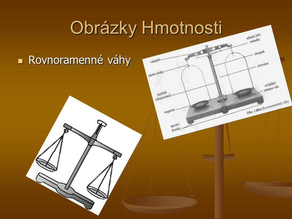 Obrázky Hmotnosti Rovnoramenné váhy