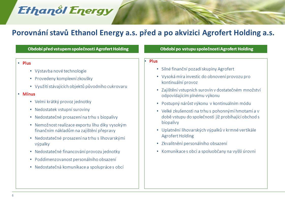 Porovnání stavů Ethanol Energy a. s