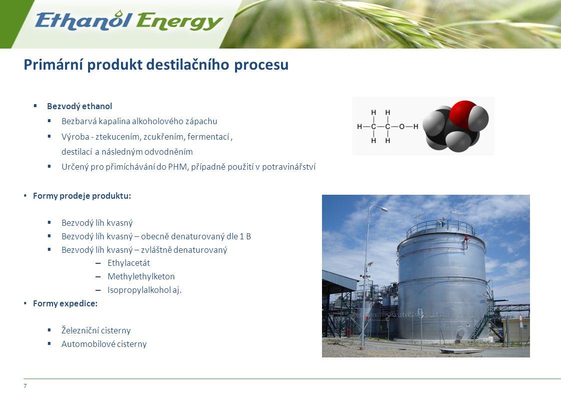 Primární produkt destilačního procesu
