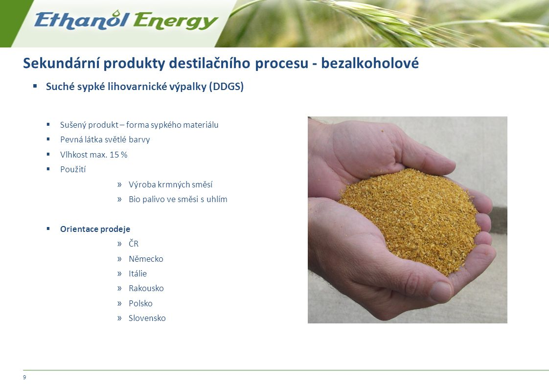 Sekundární produkty destilačního procesu - bezalkoholové