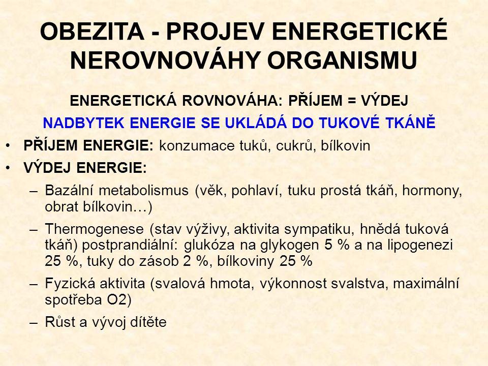 OBEZITA - PROJEV ENERGETICKÉ NEROVNOVÁHY ORGANISMU