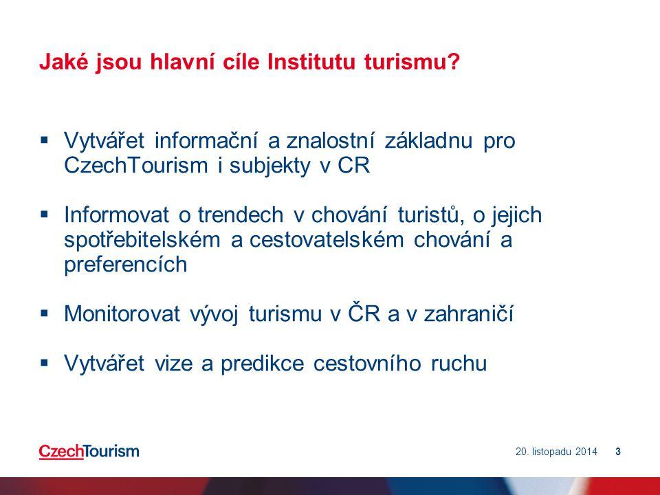 Jaké jsou hlavní cíle Institutu turismu