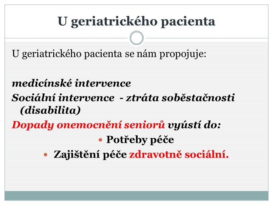 U geriatrického pacienta