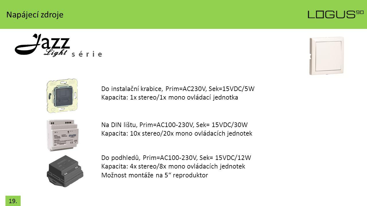 Napájecí zdroje Do instalační krabice, Prim=AC230V, Sek=15VDC/5W