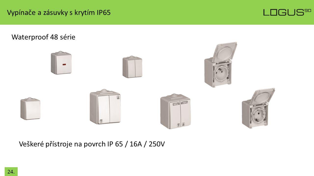 Vypínače a zásuvky s krytím IP65
