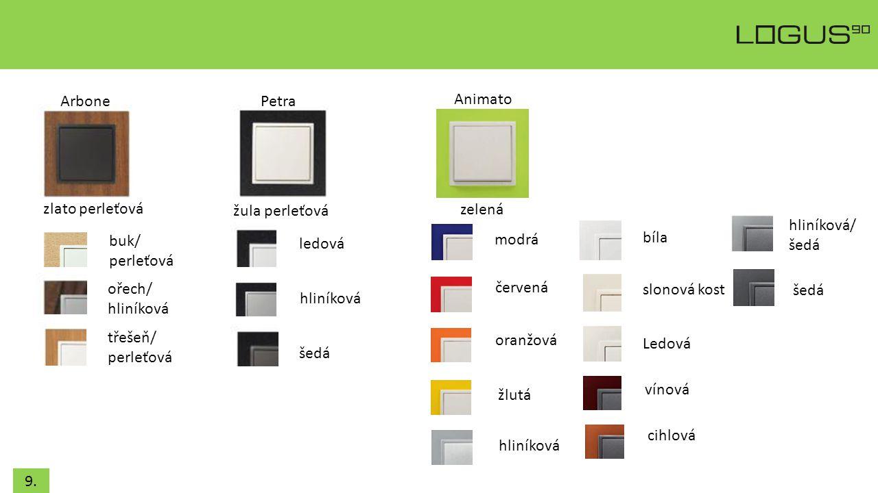 Arbone Petra. Animato. zlato perleťová. žula perleťová. zelená. hliníková/ šedá. buk/ perleťová.