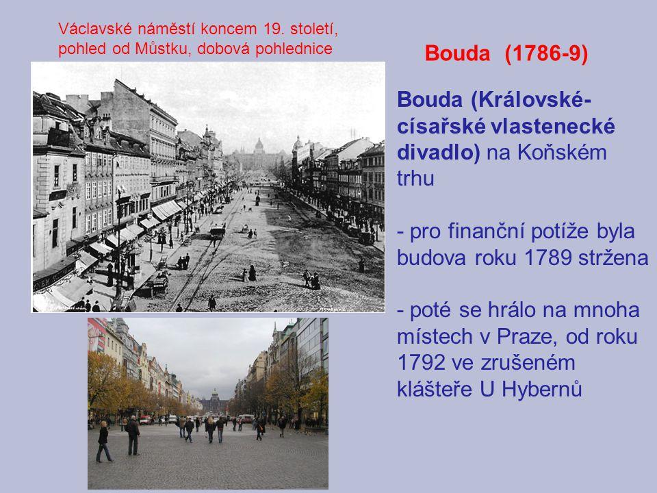 Bouda (Královské-císařské vlastenecké divadlo) na Koňském trhu