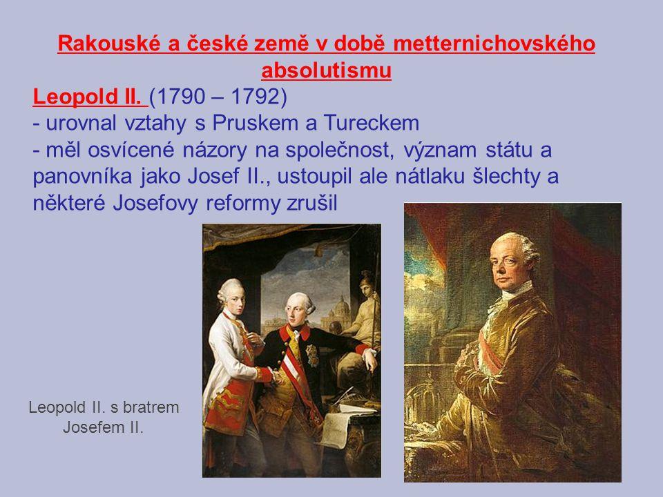 Rakouské a české země v době metternichovského absolutismu