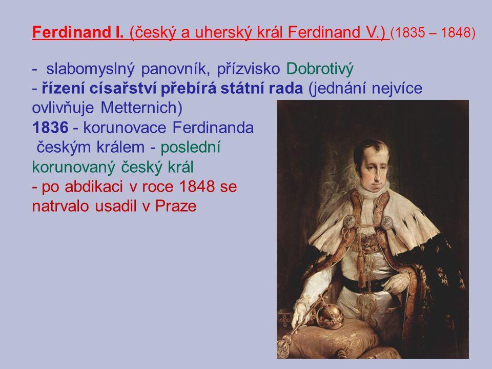 Ferdinand I. (český a uherský král Ferdinand V.) (1835 – 1848)