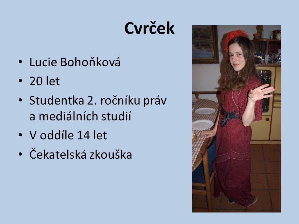 Cvrček Lucie Bohoňková 20 let