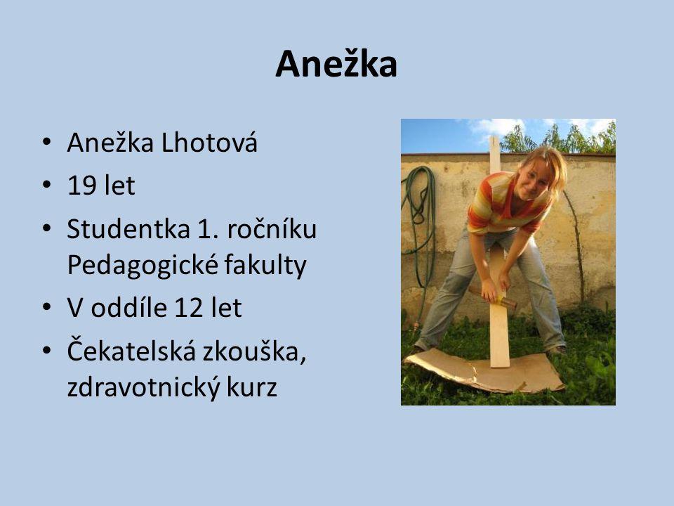 Anežka Anežka Lhotová 19 let Studentka 1. ročníku Pedagogické fakulty