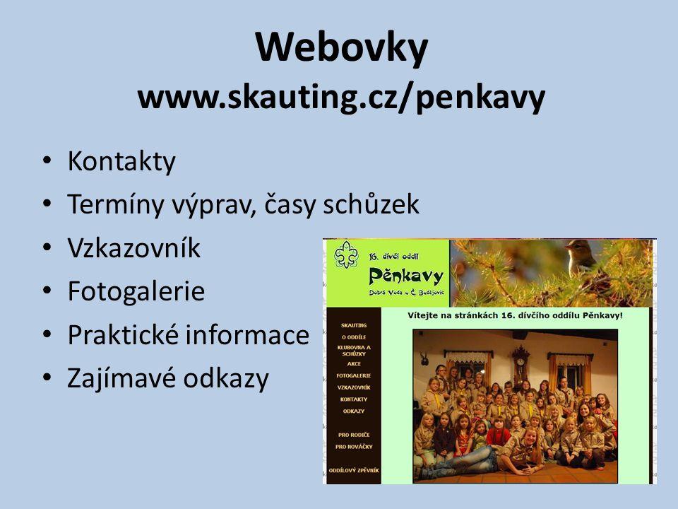 Webovky www.skauting.cz/penkavy