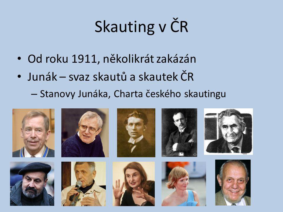 Skauting v ČR Od roku 1911, několikrát zakázán