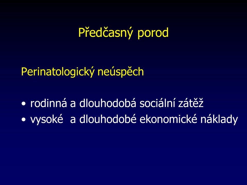 Předčasný porod Perinatologický neúspěch