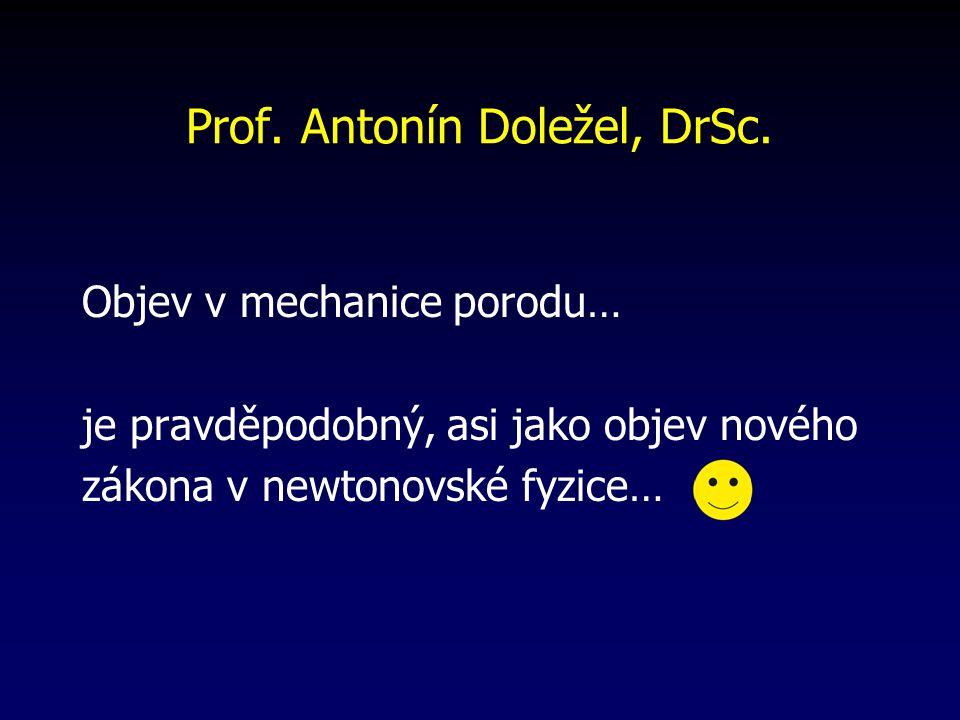 Prof. Antonín Doležel, DrSc.