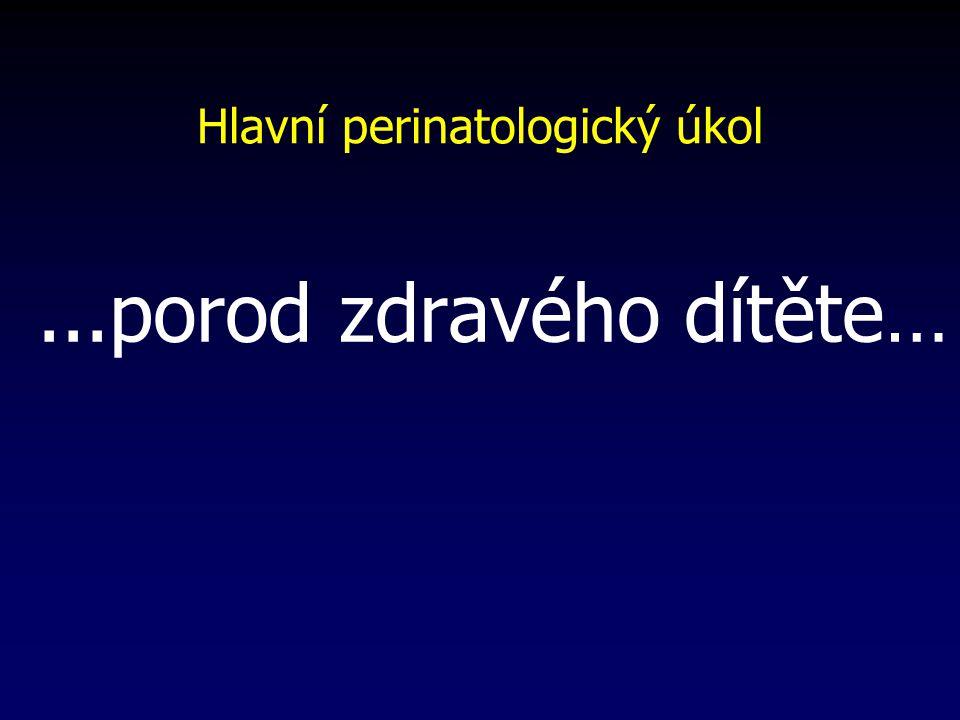 Hlavní perinatologický úkol