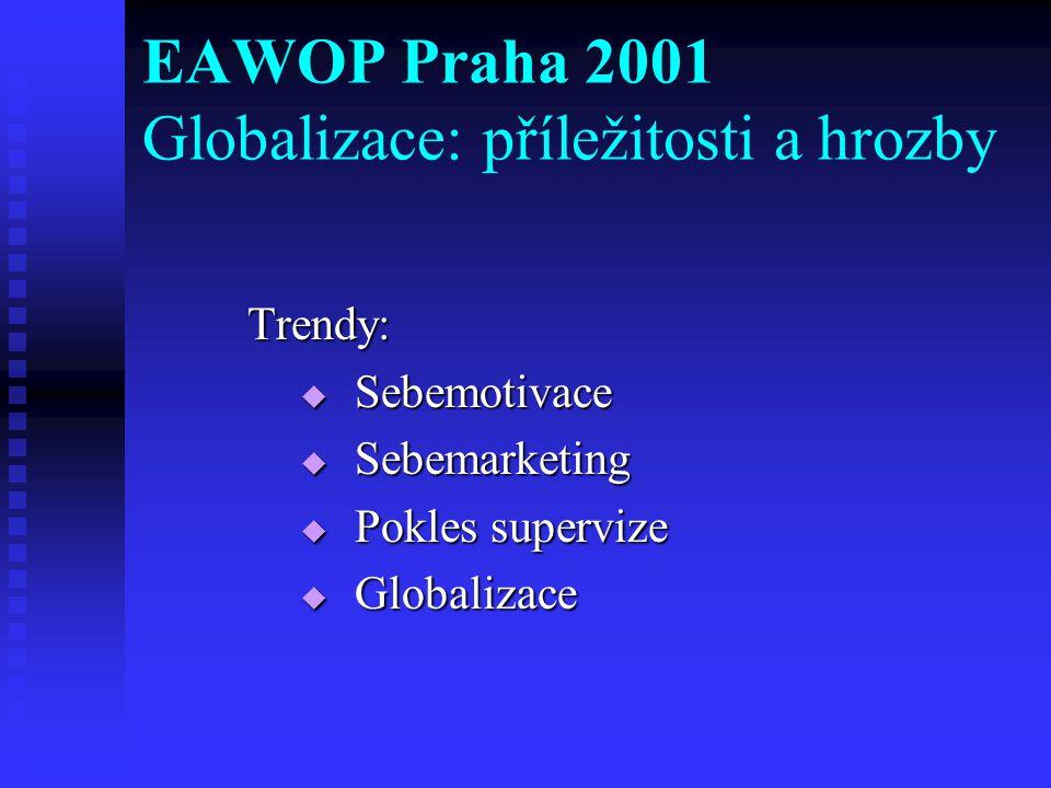 EAWOP Praha 2001 Globalizace: příležitosti a hrozby