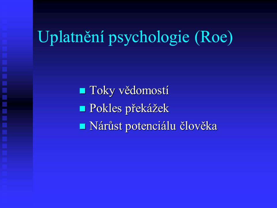 Uplatnění psychologie (Roe)