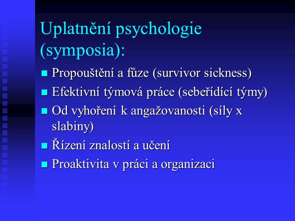 Uplatnění psychologie (symposia):