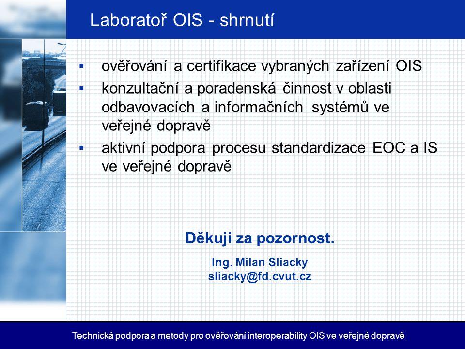 Laboratoř OIS - shrnutí