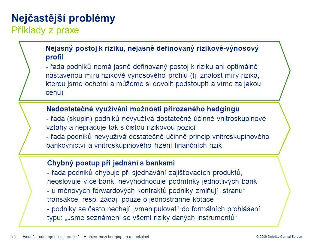 Nejčastější problémy Příklady z praxe