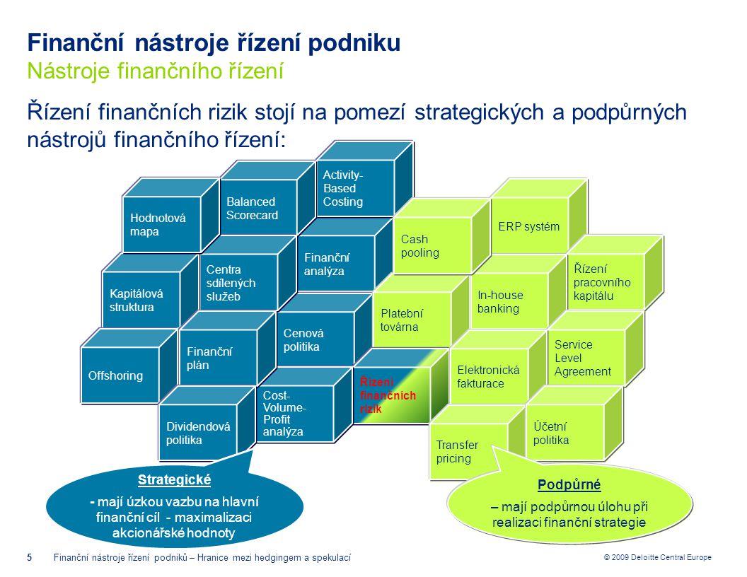 Finanční nástroje řízení podniku Nástroje finančního řízení