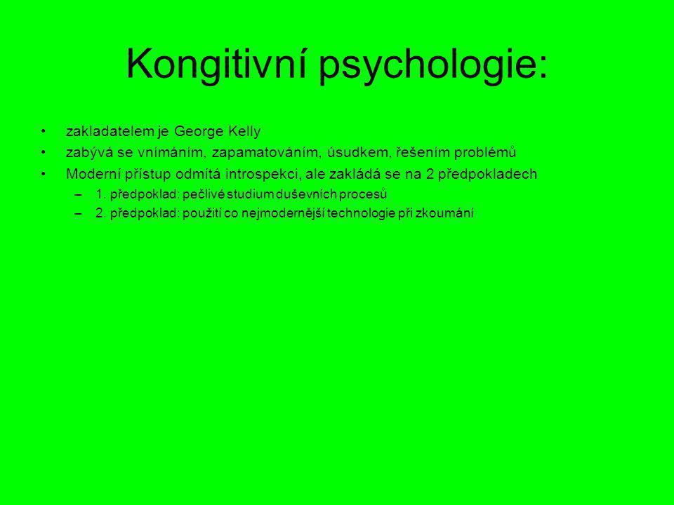 Kongitivní psychologie: