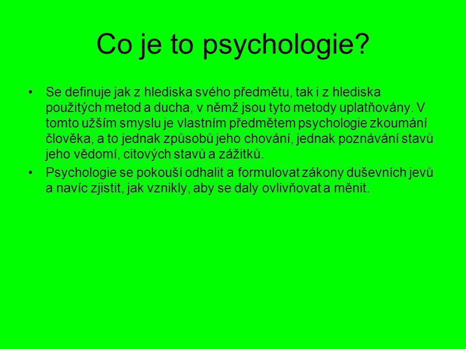 Co je to psychologie