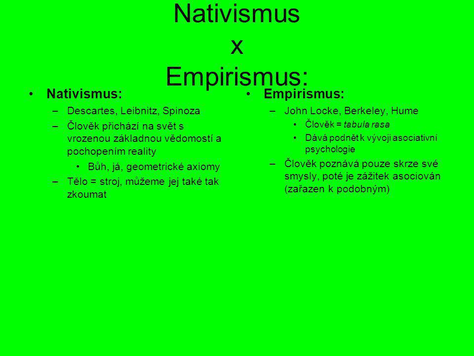 Nativismus x Empirismus: