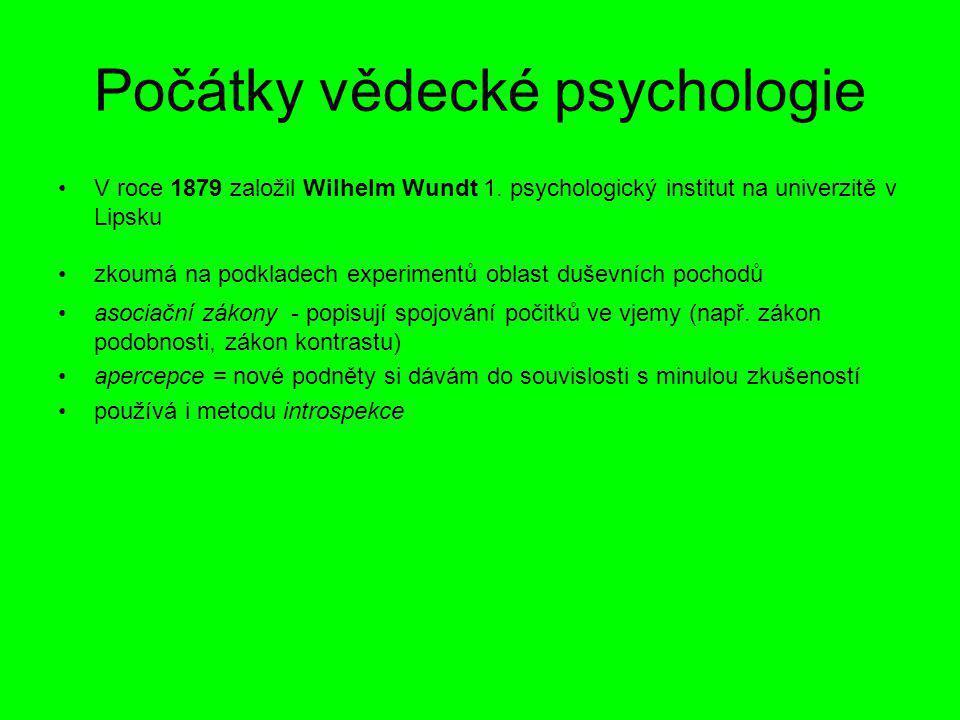 Počátky vědecké psychologie