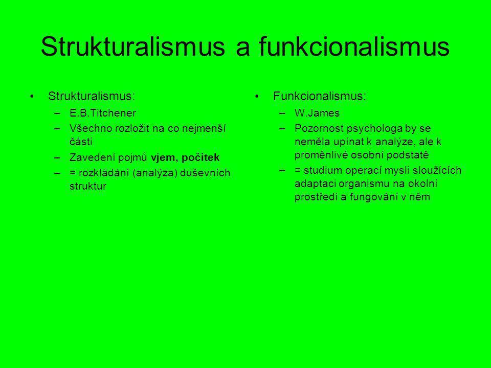 Strukturalismus a funkcionalismus