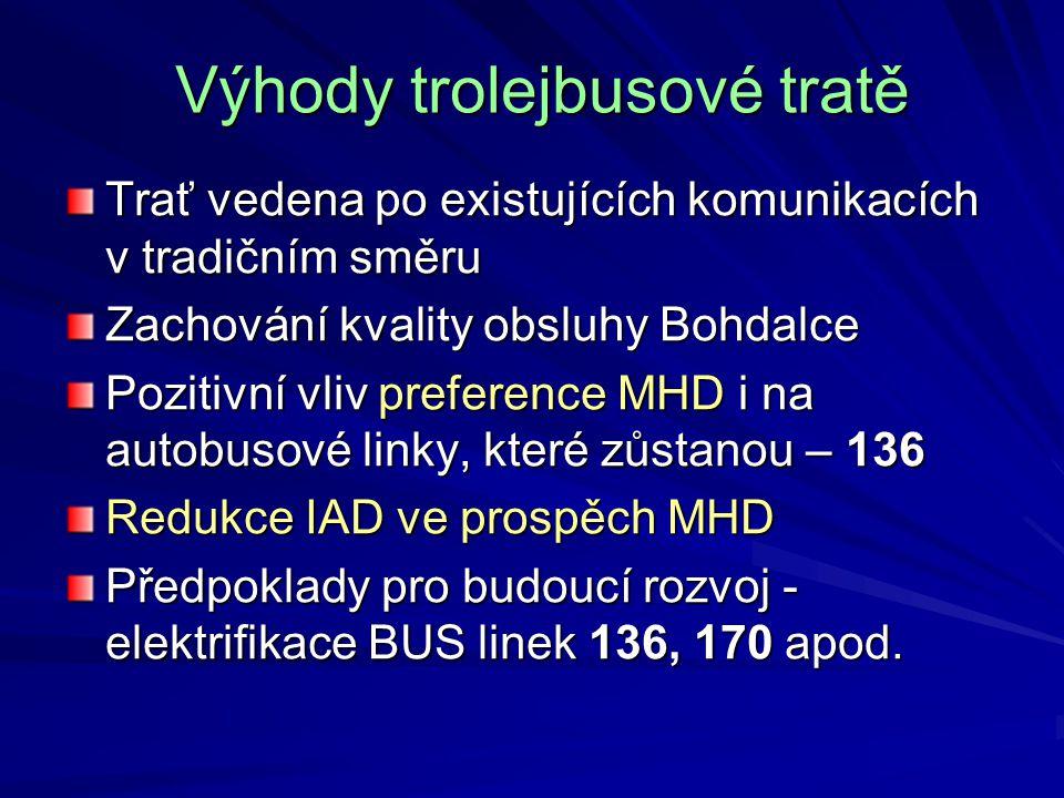 Výhody trolejbusové tratě