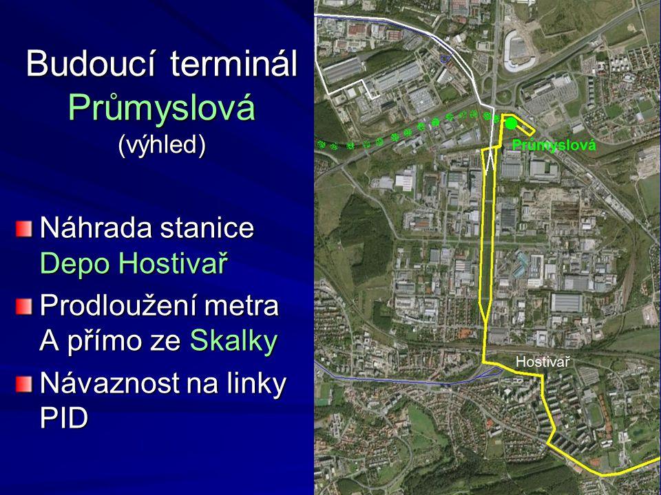 Budoucí terminál Průmyslová (výhled)