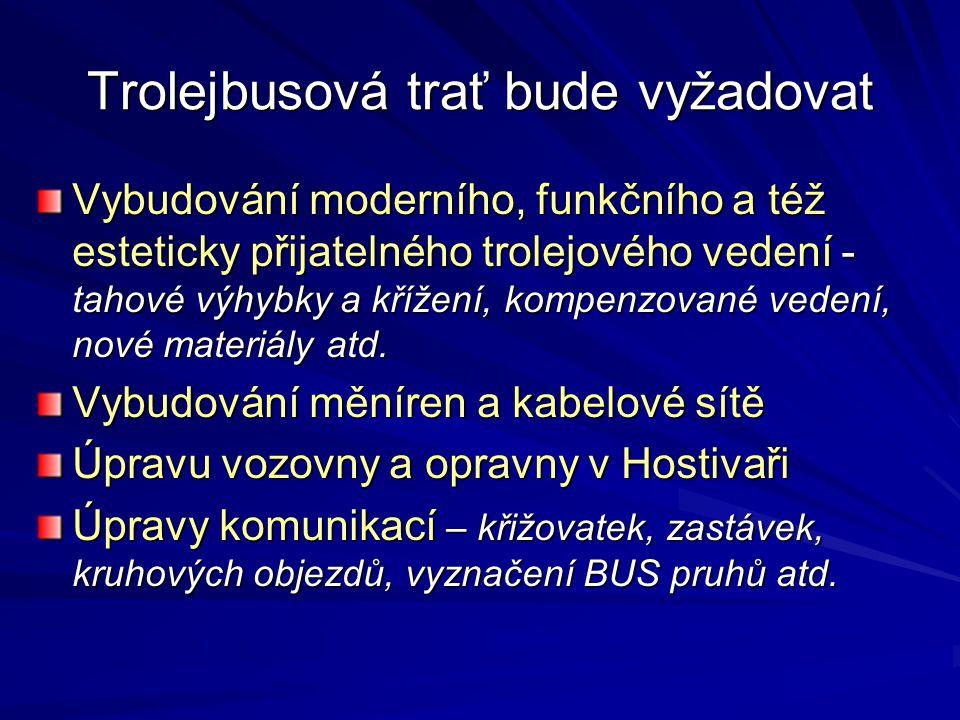 Trolejbusová trať bude vyžadovat