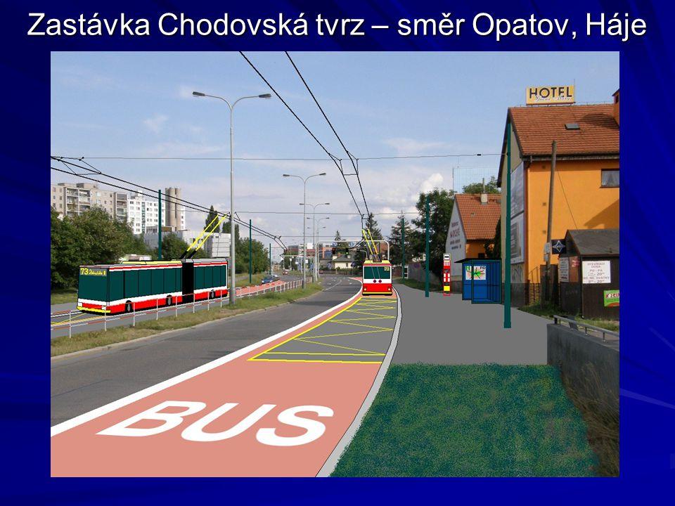 Zastávka Chodovská tvrz – směr Opatov, Háje