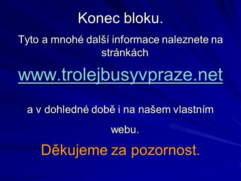 www.trolejbusyvpraze.net Konec bloku. Děkujeme za pozornost.
