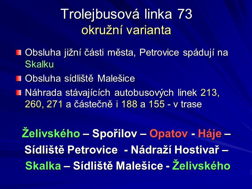 Trolejbusová linka 73 okružní varianta