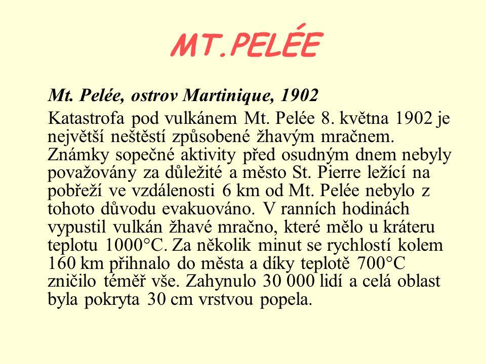MT.PELÉE Mt. Pelée, ostrov Martinique, 1902