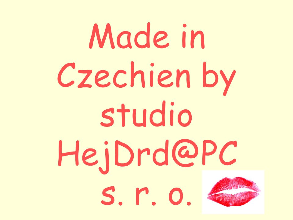 Made in Czechien by studio HejDrd@PC s. r. o.