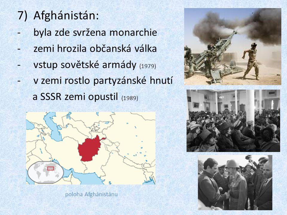 Afghánistán: byla zde svržena monarchie zemi hrozila občanská válka