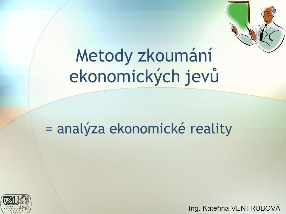 Metody zkoumání ekonomických jevů