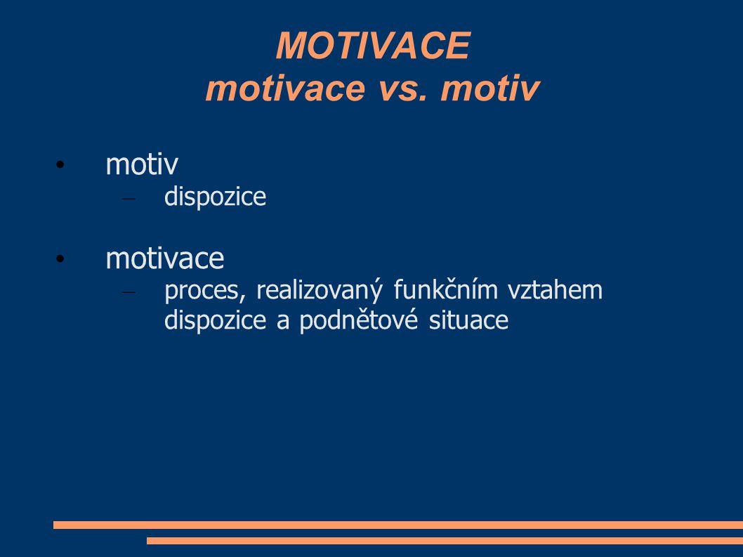 MOTIVACE motivace vs. motiv