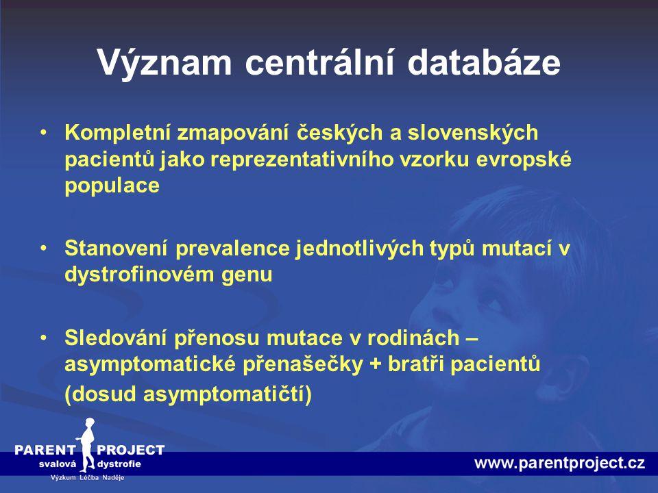 Význam centrální databáze