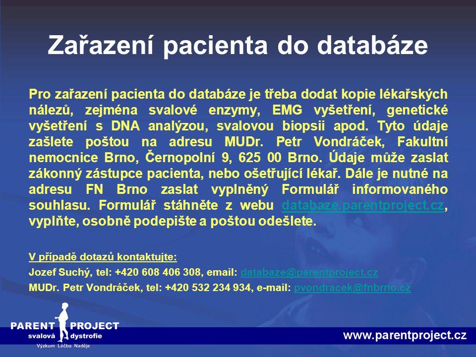 Zařazení pacienta do databáze