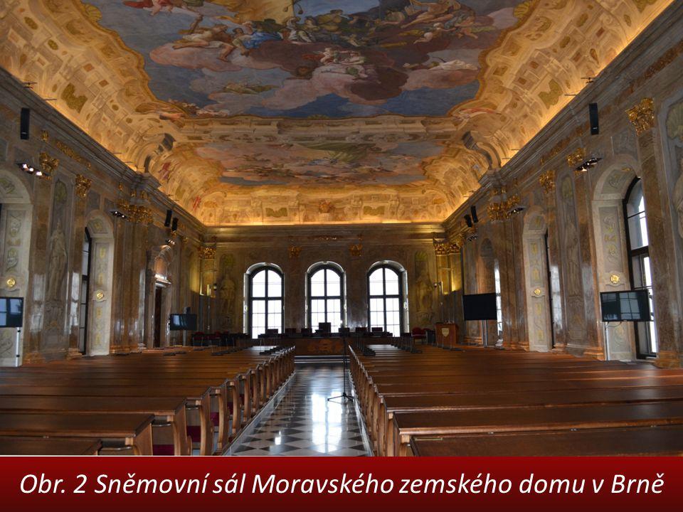 Obr. 2 Sněmovní sál Moravského zemského domu v Brně