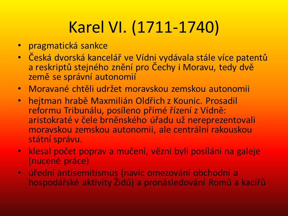 Karel VI. (1711-1740) pragmatická sankce