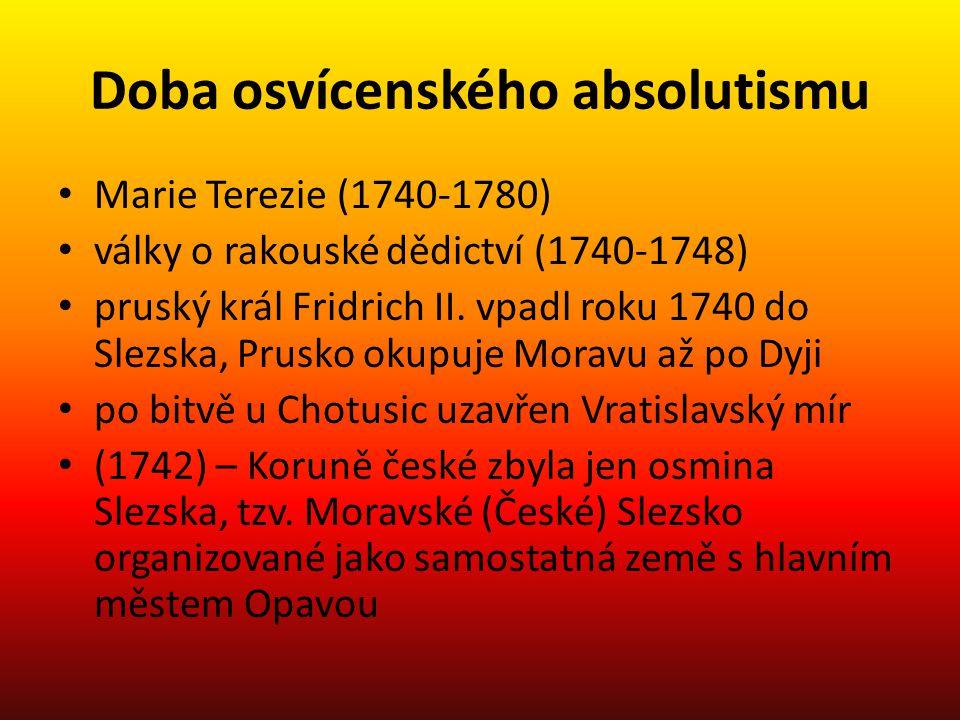 Doba osvícenského absolutismu