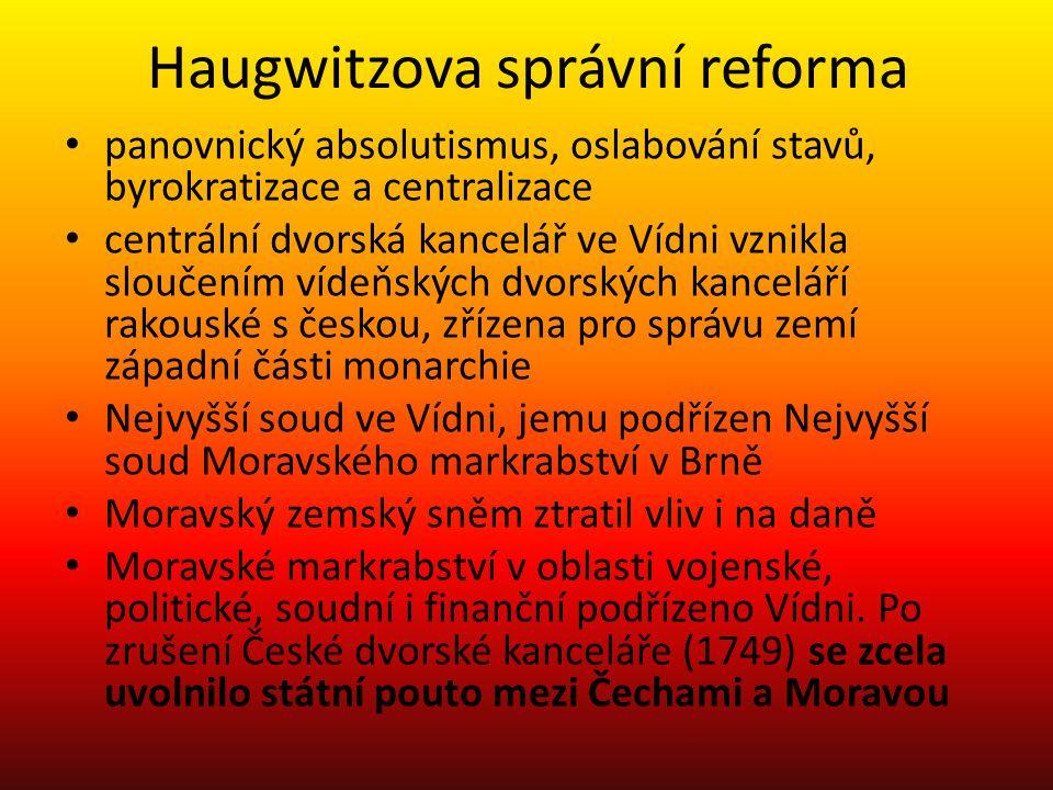 Haugwitzova správní reforma