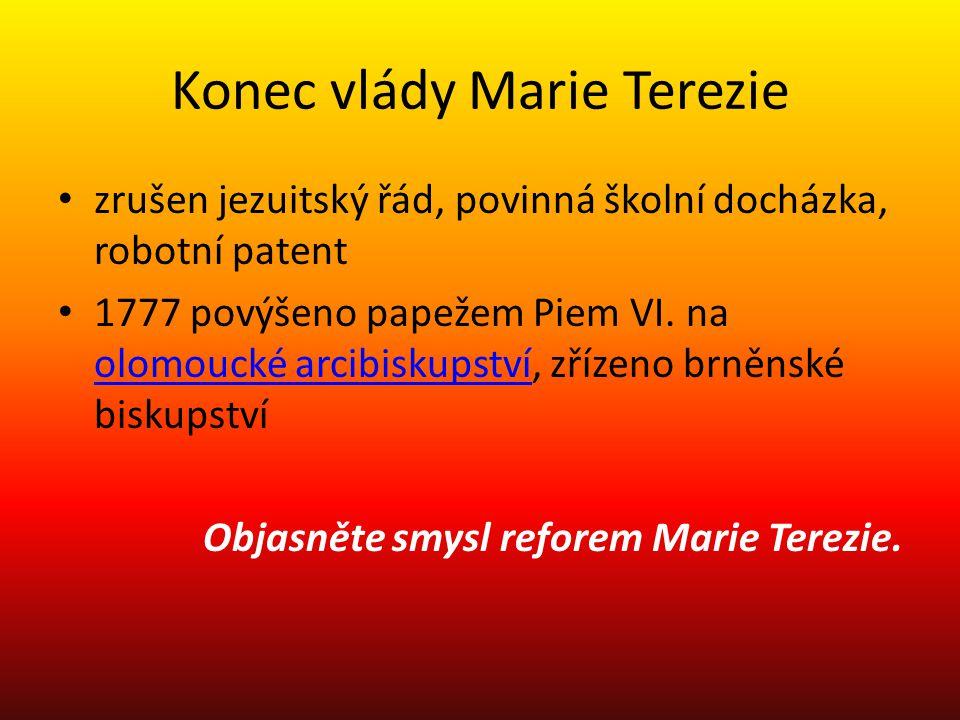 Konec vlády Marie Terezie